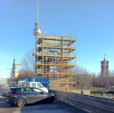 Baugerüst am Berliner Schloss