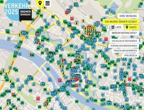 Screenshot von Bremen bewegen (Bremer Senatsverwaltung für Umwelt, Bau und Verkehr / Nexthamburg Plus UG)