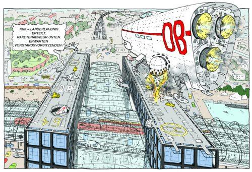 Ausschnitt aus einem Comic von Sebastian Strombach