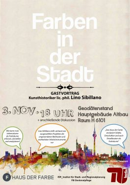 Farben in der Stadt Vortrag Lino Sibillano
