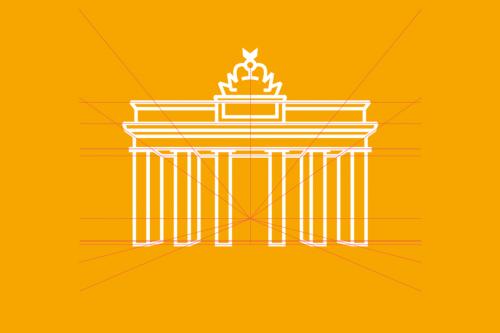 Endlich perspektivisch richtig: das Brandenburger Tor