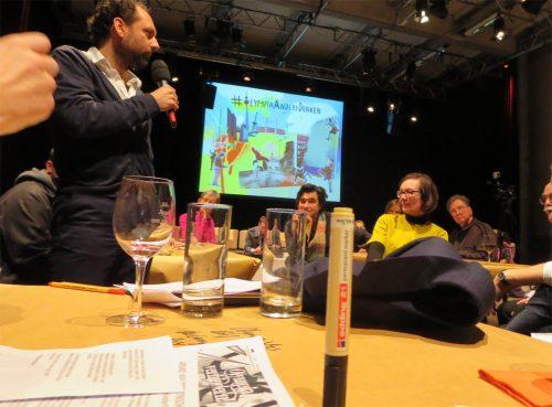 OlympiaAndersDenken, Thomas Willemeit (Graft) am Tisch für Bau & Stadtentwicklung