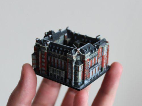 Die Gebäude sind im Maßstab 1:1000 hergestellt   © ittyblox