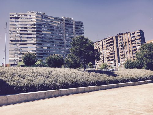 Hochhäuser am Rio Madrid