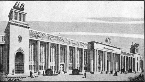 Eine Silbermedaille in Architektur: Alfréd Hajós; Dezsö Lauber (1936): Plan for a stadium.
