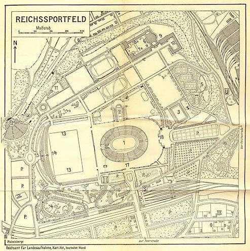 Reichssportfeld für die olympischen Spiele in Berlin, 1936