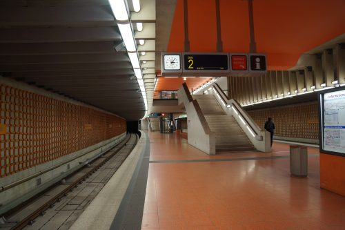Einer der ganz neuen U-Bahnhöfe: Friedrich-Ebert-Platz (2011)