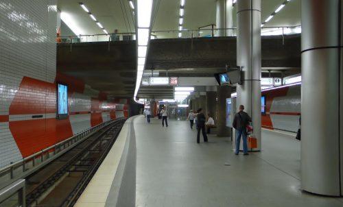 Hauptbahnhof, Bahnsteig der U2 (1988)