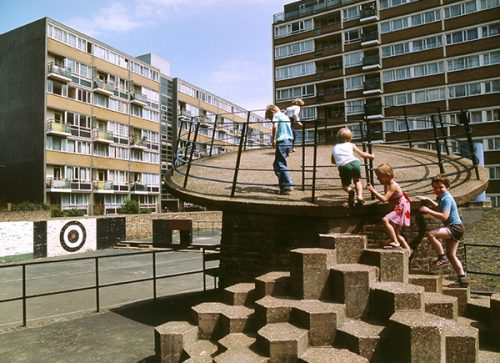 Churchill Gardens Estate, Pimlico London, 1978 © John Donat - RIBA Library Photographs Collection