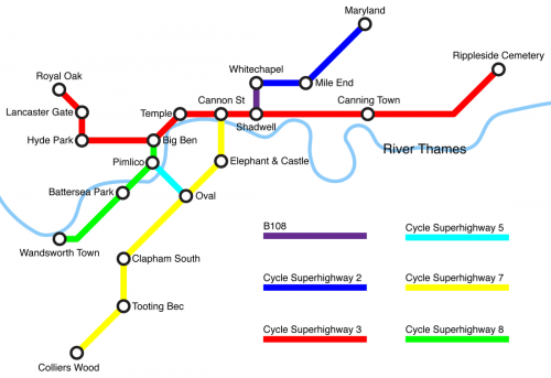 SpiderBikaMap London