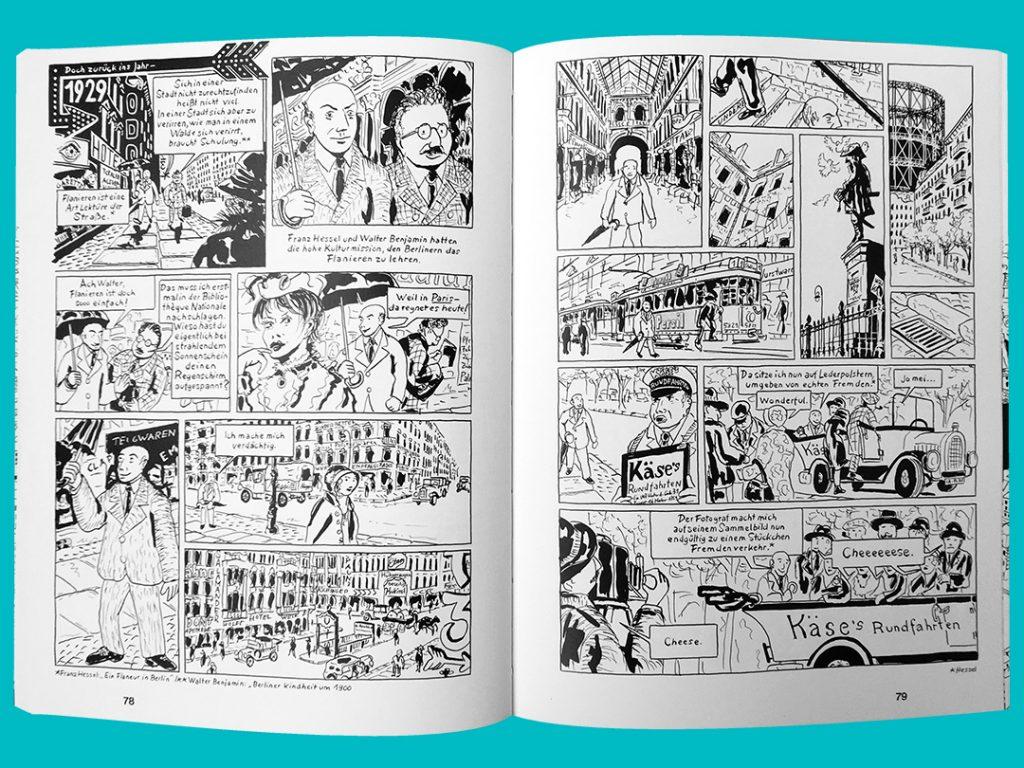 Walter Benjamin im Comic zum Berliner Schloss
