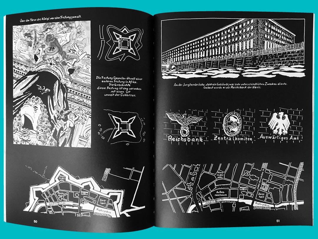 Innenseiten aus dem Comic zum Berliner Schloss