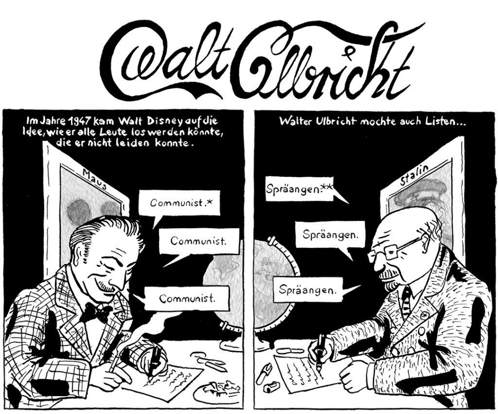 Walt Ulbricht Ausschnitt aus dem Comic zum Berliner Schloss