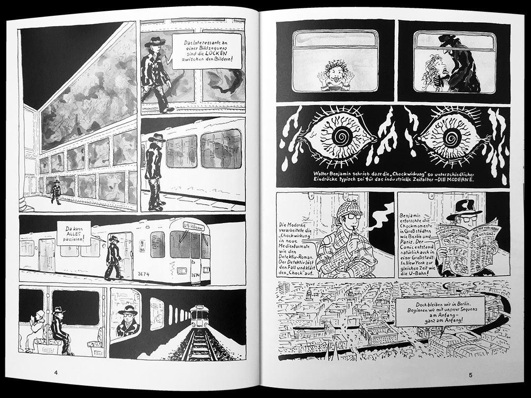 Anfangsseiten zum Comic zum Berliner Schloss von Sebastian Strombach