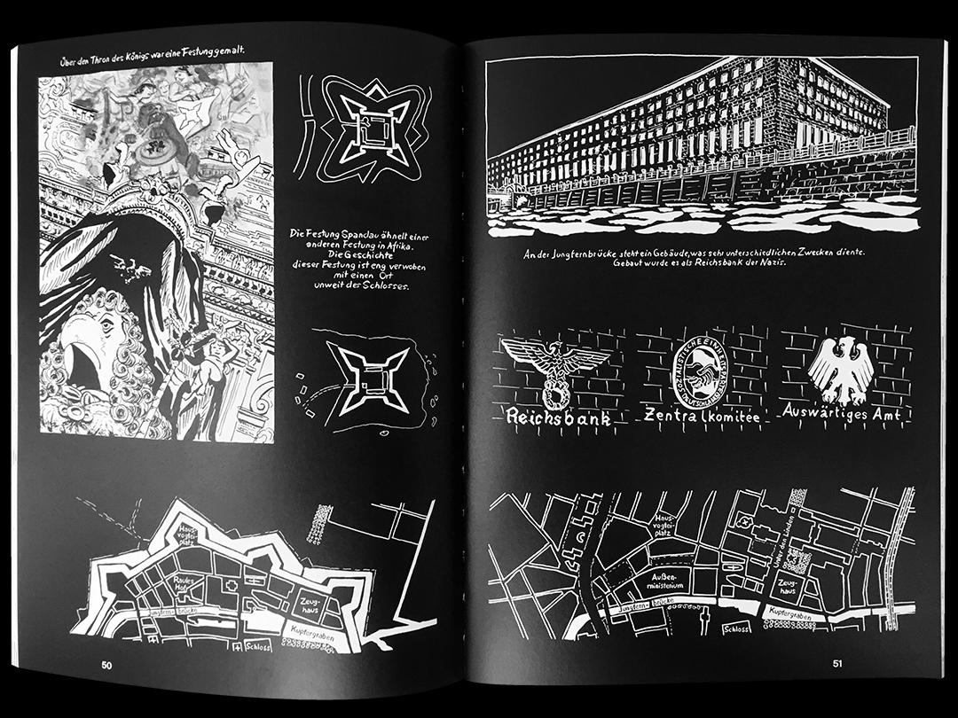 Seiten aus Comic zum Berliner Schloss