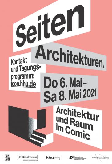 Plakat zur Tagung Seitenarchitekturen an der HHU Düsseldorf