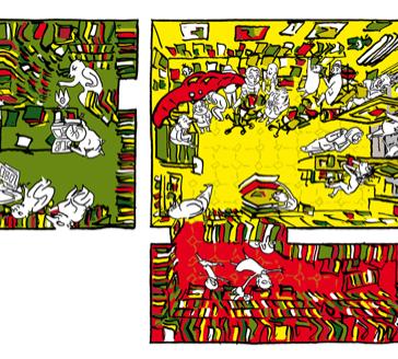 Paul Winck und Sebastian Strombach zeichnen den Comicladen Renate in Berlin